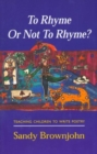Image for To Rhyme Or Not To Rhyme