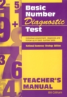 Image for Basic number diagnostic test: Teacher's manual : Teacher's Manual