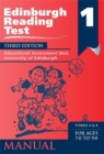 Image for Edinburgh Reading Test (ERT) 1 Manual : A Series of Diagnostic Teaching AIDS