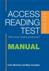 Image for Access Reading Test: Manual