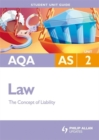 Image for AQA AS lawUnit 2,: The concept of liability : Unit 2
