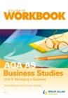 Image for AQA AS business studiesUnit 2,: Managing a business