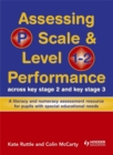 Image for Assessing P scale & level 1-2 performance across key stage 2 and key stage 3  : a literacy and numeracy assessment resource for pupils with special educational needs