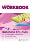 Image for AQA A2 business studies workbookUnit 4,: The business environment and managing change : Unit 4