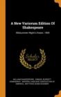 Image for A New Variorum Edition of Shakespeare : Midsummer Night's Dream. 1895