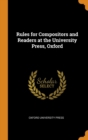 Image for RULES FOR COMPOSITORS AND READERS AT THE