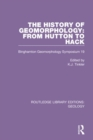 Image for The history of geomorphology  : from Hutton to Hack