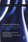 Image for Criminal law and precrime  : legal studies in canadian punishment and surveillance in anticipation of criminal guilt