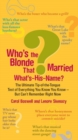Image for Who's the blonde that married what's-his-name?  : the ultimate tip-of-the-tongue test of everything you know you know-but can't remember right now