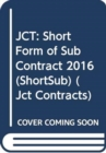 Image for Short form of sub-contract 2016