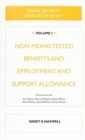 Image for Social Security Legislation 2016/17 Volume 1 : Non Means Tested Benefits and Employment and Support Allowance