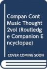 Image for Compan Cont Music Thought 2vol