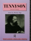 Image for Alfred, Lord Tennyson  : selected poetry