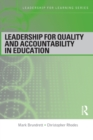 Image for Leadership for quality and accountability in education