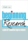 Image for Beginning research  : a guide for foundation degree students