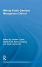 Image for Public services management  : a critical approach
