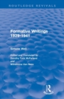 Image for Formative writings 1929-41