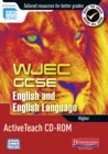 Image for WJEC GCSE English and English Language Higher Active Teach CD-ROM