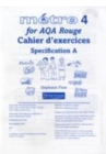 Image for Metro 4 for AQA: Rouge Cahier d'exercices