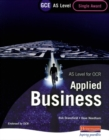Image for AS level for OCR applied business