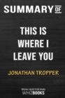 Image for Summary of This Is Where I Leave You : A Novel: Trivia/Quiz for Fans