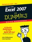 Image for Excel 2007 for dummies  : quick reference