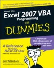 Image for Excel 2007 VBA programming for dummies
