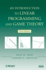 Image for An introduction to linear programming and game theory