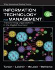 Image for Information Technology for Management : Transforming Organizations in the Digital Economy