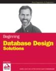Image for Beginning database design solutions