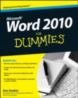 Image for Word 2010 for dummies