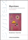 Image for Syntax  : a generative introduction
