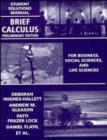 Image for Brief calculus for business, social sciences, and life sciences: Student solutions manual : Student Solutions Manual