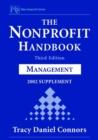 Image for The nonprofit handbook  : management: 2002 supplement