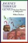 Image for Journey through Genius : Great Theorems of Mathematics