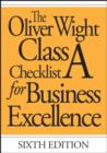 Image for The Oliver Wight Class A checklist for business excellence