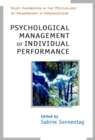 Image for Psychological management of individual performance  : a handbook in the psychology of management of organizations