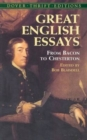 Image for Great English Essays : From Bacon to Chesterton