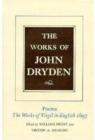 Image for The Works of John Dryden, Volume V : Poems, 1697