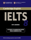 Image for Cambridge IELTS 8  : examination papers from University of Cambridge ESOL examinations: Student's book with answers : Cambridge IELTS 8 Student's Book with Answers: Official Examination Papers from University of Cambri