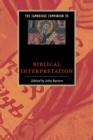 Image for The Cambridge companion to biblical interpretation