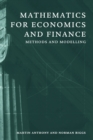 Image for Mathematics for economics and finance  : methods and modelling
