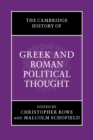 Image for The Cambridge history of Greek and Roman political thought