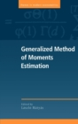 Image for Generalized method of moments estimation