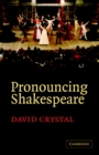 Image for Pronouncing Shakespeare  : the Globe experiment
