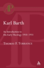 Image for Karl Barth: Introduction to Early Theology