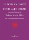Image for Four Late Poems and an Epigram of Rainer Maria Rilke