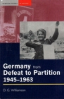 Image for Germany from defeat to partition, 1945-1963