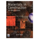 Image for Materials in construction  : an introduction