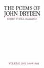 Image for The Poems of John Dryden: Volume One : 1649-1681